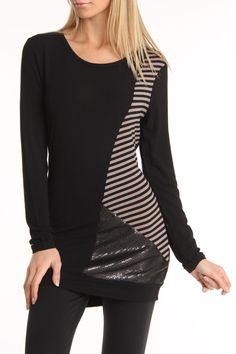 Striped Embellished Tunic