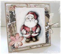Jolly Little Santa [C1054] - $7.00 : Whimsy Stamps