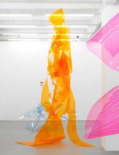 Berta Fischer . Alyha , 2007 , PE Foil , 385 x 150 x 120 cm .