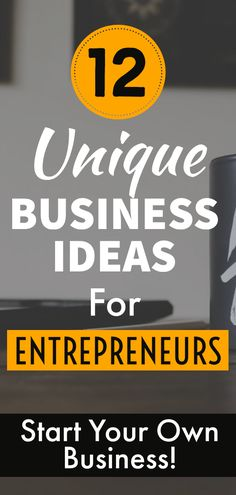 Unique Business Ideas for Entrepreneurs - If you are an Entrepreneur who wants to start a business but don't have enough ideas, then you can check out these 12 Unique Business ideas that are good for business marketing. Starting a business on any one of them will definitely make a lot of money. #onlinebusiness #onlinebusinessideas #onlinebusinessopportunities #onlinebusinessinspiration