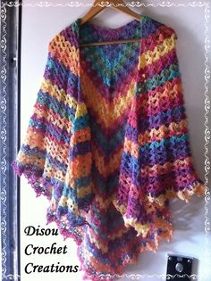 I am getting ready for winter: Something to keep warm and to chase the grey away! A DisouCrochetCreation shawl made out of rows of V stitches! :-) disouxxxxxxxxxxxxxxxxxxxxxxx