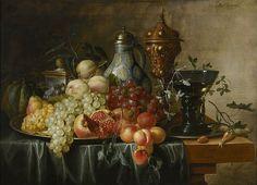 Details Still life with fruit Alexander Coosemans • Public domain