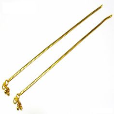 Pakistani Indian Fashion Gold Plated Chain Anklet Payal Pair with Soft Bells