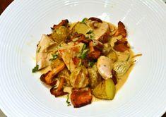 La recette du fameux poulet grillé aux girolles et crème au vin jaune
