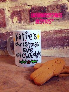 Personalised Christmas Eve Mug. Hot chocolate, Tea, Coffee by Handmadebyswans on Etsy