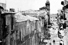 TERRANOVA (OGGI GELA), VIA CARMINE (OGGI VIA BENEDETTO CAIROLI) IN UNA FOTO DEL 1856 SU CORTESIA DELLA SIG.A STELLA SOLITO (COPYRIGHT NUCCIO MULE')