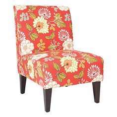 Armless Accent Chair - Rombie Persimmon Floral at Big Lots.