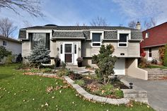 Home For Sale in Acton, ON $519,000 MLS#:W3059528 Stunning custom bungalow in sought after Bovis area. Set on a wide & mature landscaped lot this spectacular home boasts an extended kitchen & master bedroom. Massive kitchen w/granite counters, indoor gas BBQ, skylight & huge window w/remote solar shade. 3 large bedrooms, 2 bath, 3 skylights, beautiful custom bay windows. Hardwood floors. Newly renovated basement. Coffered ceilings.