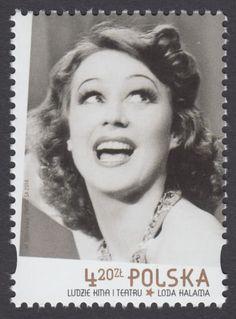 Sello: Loda Halama (Polonia) (People of cinema and theatre) Mi:PL 4593 Poland People, Pre Code, Old Movies, Classic Hollywood, Tango, Alter, Movie Stars, Singapore, Most Beautiful