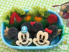 mickey and minnie bento... a must do for @Jenn B