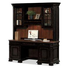 Riverside Allegro Credenza Computer Desk With Optional Hutch