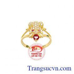 Chiếc Nhẫn Cóc Ngậm Đá Đỏ Đẹp