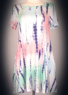 The Bling Box - Plus Size Caribbean Tie Dye Pocket Dress, $39.99 (http://www.theblingboxonline.com/plus-size-caribbean-tie-dye-pocket-dress/)