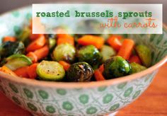 ain't no doubt - I love sprouts! (roasted brussels sprouts with carrots recipe) Carrot Recipes, Yummy Recipes, Yummy Food, Healthy Recipes, Roasted Sprouts, Brussels Sprouts, Entrees, Carrots, Side Dishes