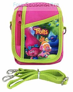 Dreamworks Trolls Poppy  Friends Small Camera Bag Case Little Girl Bag Handbag with Frozen Key Chain  Pink >>> For more information, visit image link.(It is Amazon affiliate link) #l4l