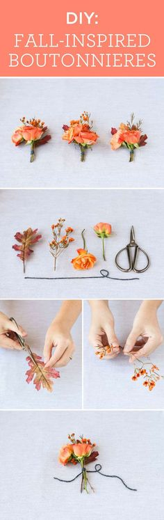 Autumn Inspired Boutonnieres | Fall Wedding Ideas for The Ultimate Backyard Barnhouse Country Wedding