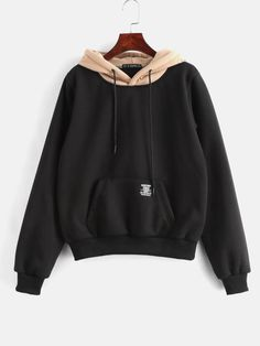 TDYUS DesignName Womens Cool Black Hoodies With Pocket