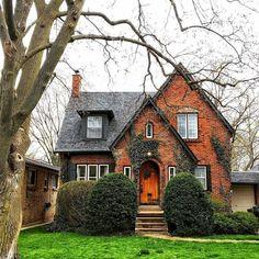 """ Wednesday Adorable little storybook cottage. Cute House, My House, Tudor House, Casa Estilo Tudor, Stommel Haus, Casas The Sims 4, Tudor Style Homes, Cottage Homes, Brick Cottage"