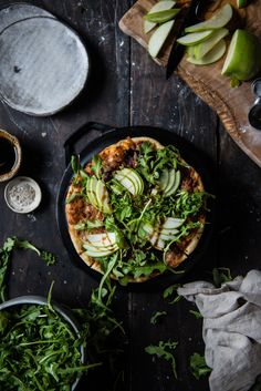 cracker-style thin crust pizza | two red bowls