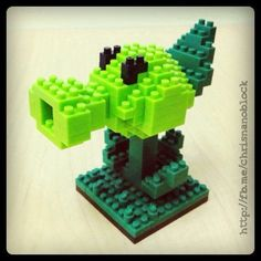 nanoblock Plants Vs Zombies Pea Shooter ... http://fb.inanoblock.com for more