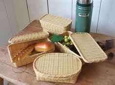 【楽天市場】日本製 竹ござ目編みサンドイッチ篭 弁当箱:slowworks