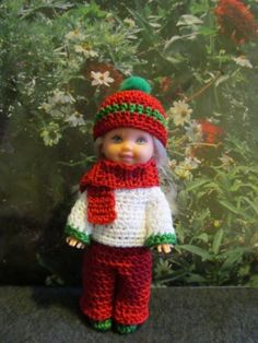 """Crochet Set for 4 1 2"""" Kelly Doll  """