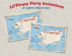 Free Printable Pirate Birthday Party Invitations