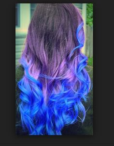 Black, purple and electric blue