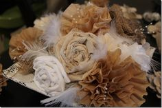 Fabric flower tutorials, great decoration for fall!