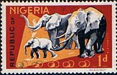 Nigeria 1965 SG 173 Animals African Elephants Fine Used    SG 173 Scott 185    Condition Fine Used Only one post charge applied on multipul purchases