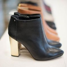 How do you make a pair of black booties even better, add a splash of gold!