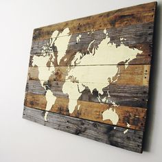 Pallet Board World Map @mrsneilmoore