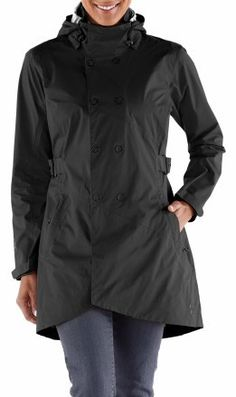 Pretty thrilled with my new raincoat (I discovered during Saturday's torrential downpour that my EB coat is no longer waterproof.) Super lightweight, and slightly more stylish? The red and teal colors are gorgeous but I went with black. REI Kyoto Trench Rain Jacket - Women's