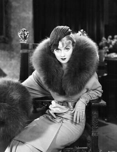 Constance Bennett -LOVE the full ensemble, complete with muff!