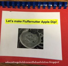 Educating children with disabilities: Making fluffernutter apple dip with children