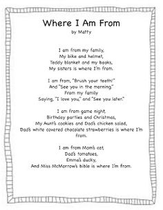 Where I'm From (freebie)...ties in poetry and possibly even habitats with beautiful results. Can't wait to do this!