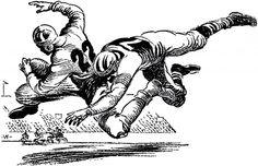 Vintage Football Image - The Graphics Fairy