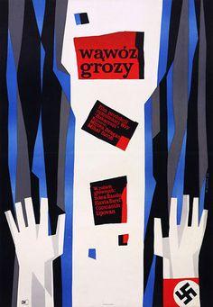 Vintage Polish movie poster 1959 by Wiktor Gorka : Wawoz grozy Vintage Movies, Vintage Posters, Polish Movie Posters, Online Posters, Exhibition Poster, Poland, Graphic Design, Logos, Gallery