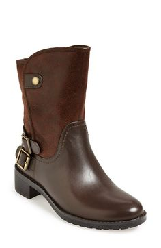 Naturalizer 'Metro' Water Resistant Moto Boot (Women) available at #Nordstrom