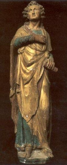 Jacobus Apostel.. > 1600. Houtsnijwerk Nederland, Venray, kerk ST-Petrus' Banden.