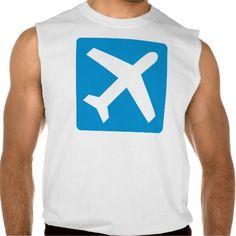 Blue airplane icon sleeveless t-shirt Tank Tops