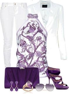 White & Purple Outfit