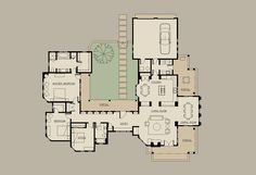house plans u shaped with courtyards | Shaped House Plans With Courtyard | Home Architectural Design