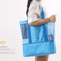 cc8e5a6fb91 Leisure Bags ·  9.96 - Women Men Double Layer Mesh Beach Bag Large-Capacity  Tote Bag Picnic Organiser