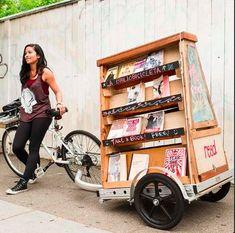 La Bibliobicicleta de San Francisco (Estados Unidos).