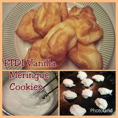Vanilla Merengue Cookies (FTDI) MooMoo Jackson Style Broccoli Fried Rice, Chicken Broccoli, Egg White Dessert, Spinach Protein, Protein Muffins, Protein Cake, Healthy Muffins, Oatmeal Cookies, Cookie Recipes