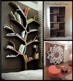 10 Creative DIY bookshelf ideas. Read the full article on www.thediyhubby.com #diy #bookshelf