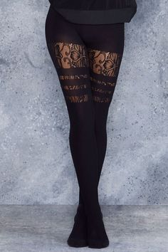 Sporty Stripes Floral Hosiery