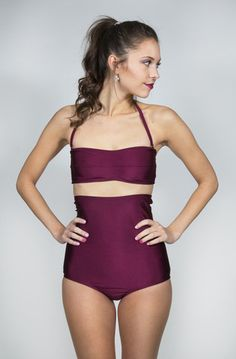Timeless high waisted and one piece swim suits perfect for a day at the beach. Hit the pool with confidence this summer in a one-of-a-kind suit Modest Swimsuits, Vintage Swimsuits, Cute Swimsuits, Honeymoon Style, Cute Bathing Suits, Summer Swimwear, Sensual, Teen Fashion, Beachwear