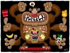 Mario and Donkey Kong, character design by Jorge Gutierrez.  Mexopolis.